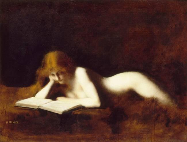 La Liseuse, Jean Jacques Henner, 1880-1890
