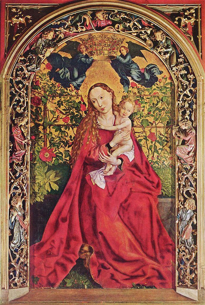 La vierge au Buisson de rose, Martin, Schongauer, 1473
