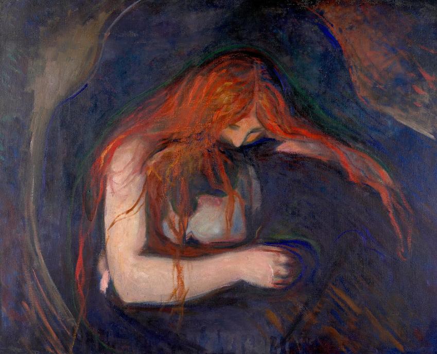 Le Vampire, Edvard Munch, 1895