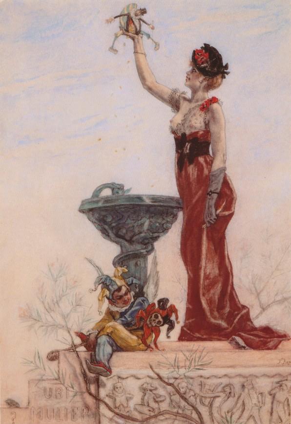 La Dame aux Pantins, Félicien Rops, 1877