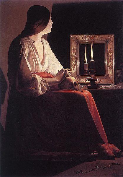 La Madeleine aux deux flammes , Georges De La Tour, 1650