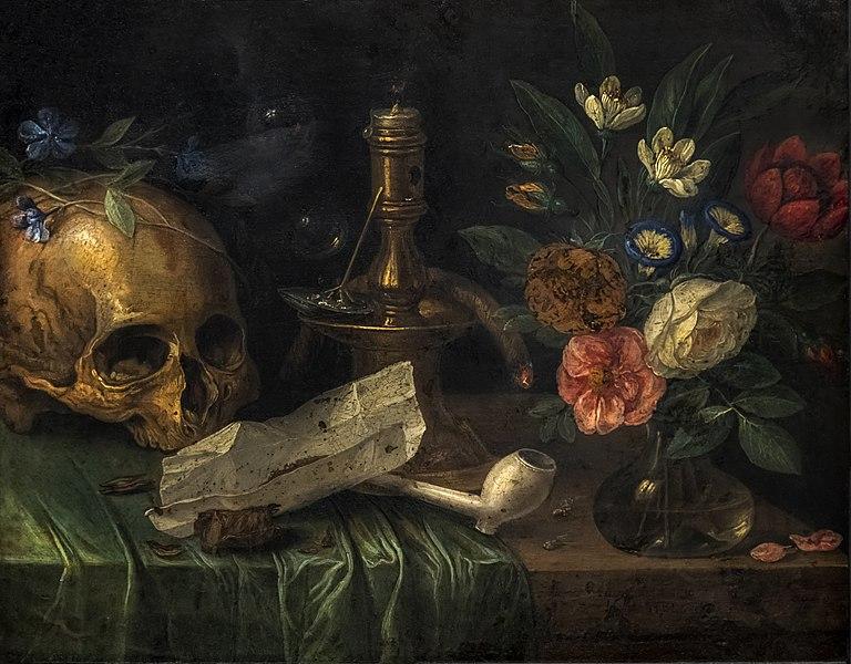 Vanité au crâne, Jan Van Kessel, 1679