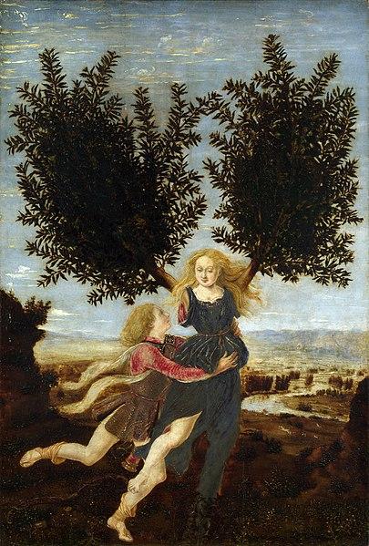 Apollon et Daphné, Pollaiuolo, 1470-1480