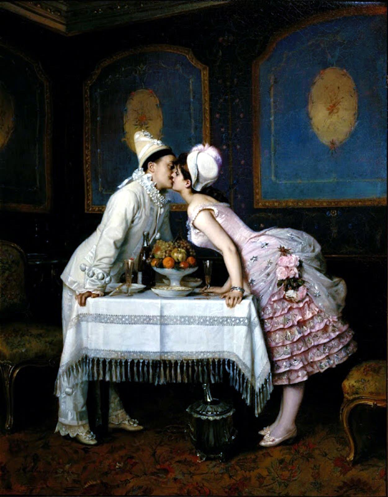 Le Baiser, Toulmouche, 1870