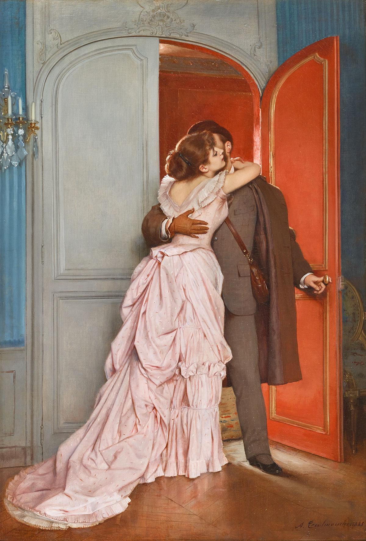Le Baiser, Toulmouche, 1885
