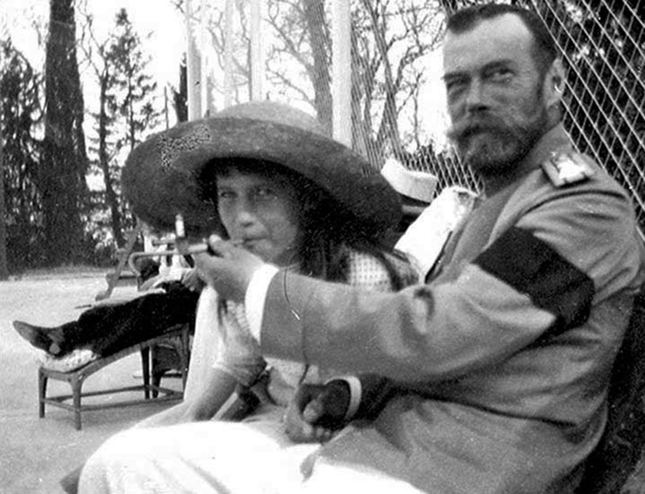 Anastasia et son père Nicolas II