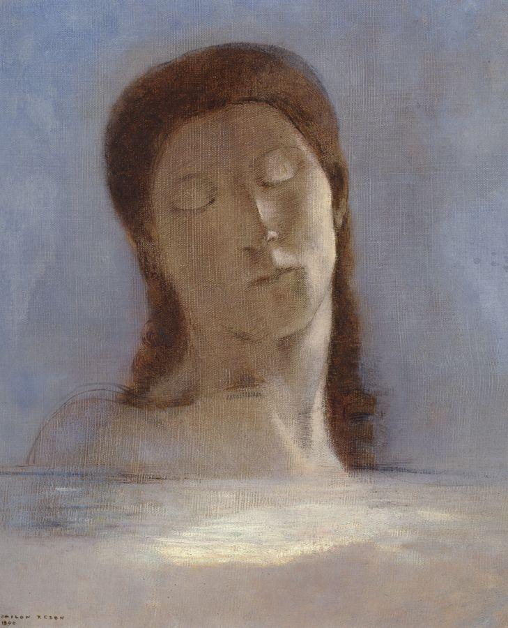Les yeux clos, Odilon Redon, 1890