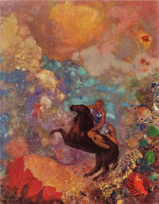 Odilon, Redon Muse sur Pégase, 1907-1910
