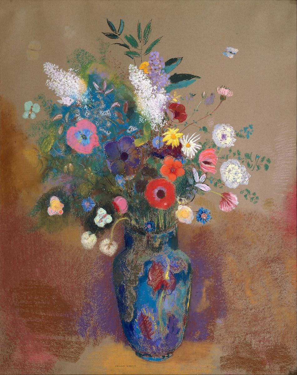 Odilon Redon, vase de fleur