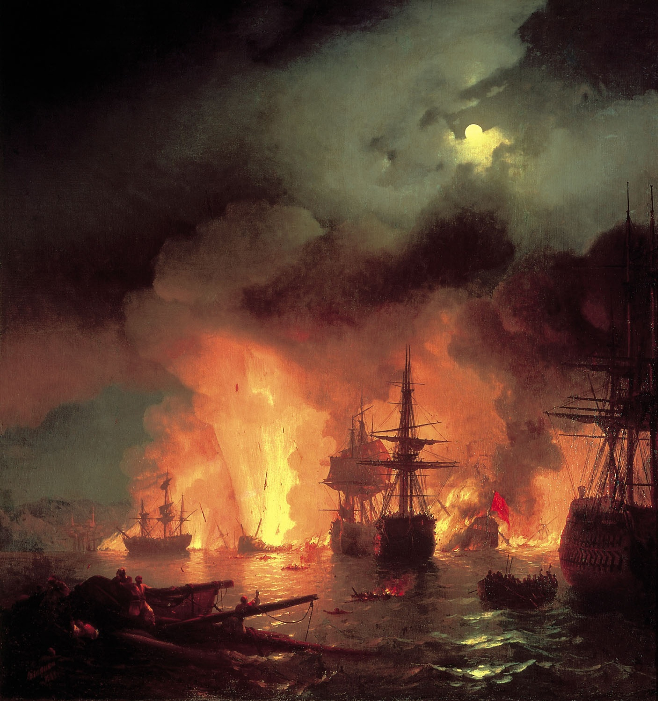 La bataille de Chesme, 1848