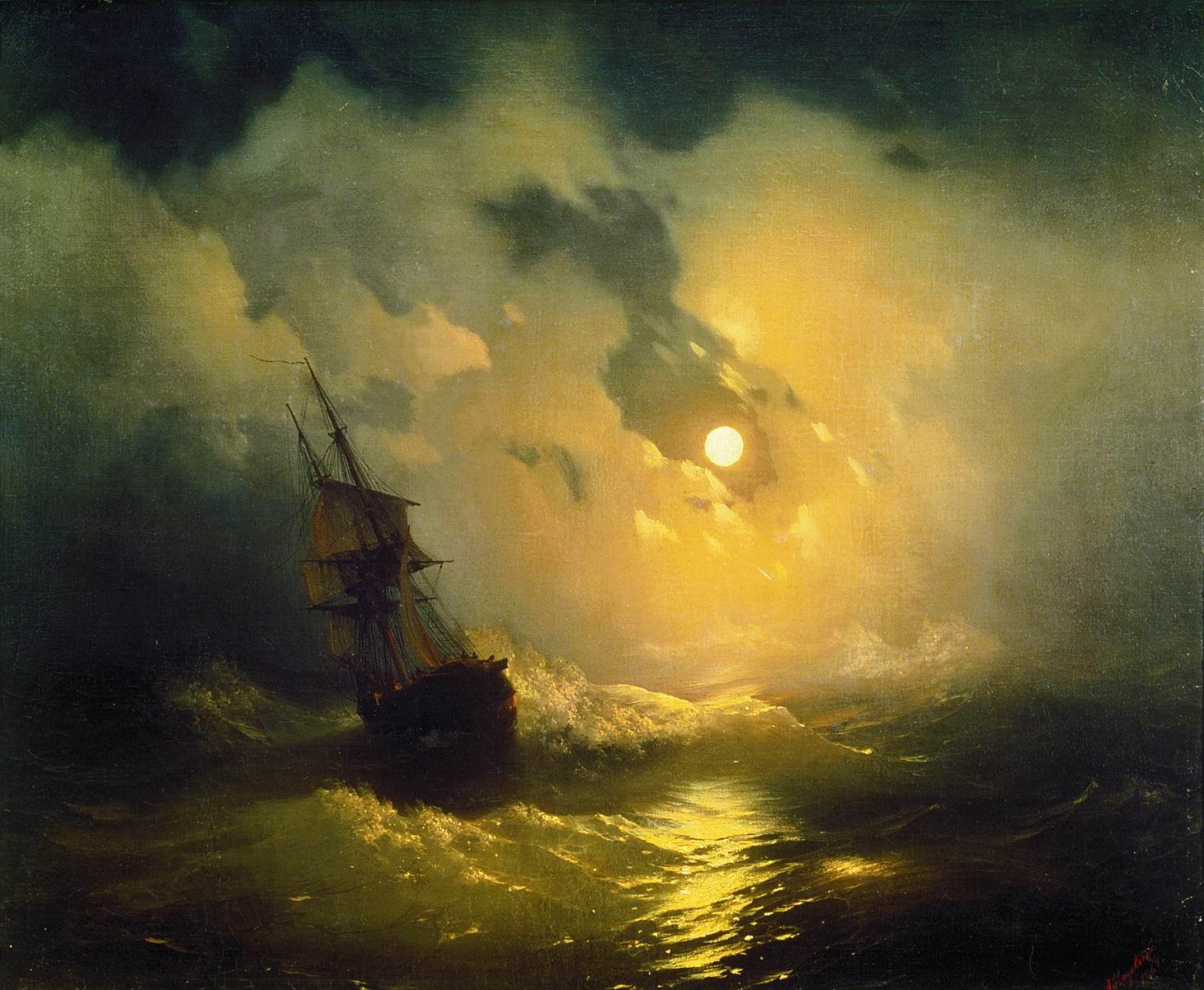 Tempête de mer, de nuit, 1849