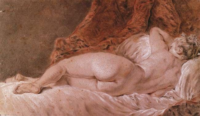 Femme allongée nue de dos dit Le Sommeil, Boucher, 1740