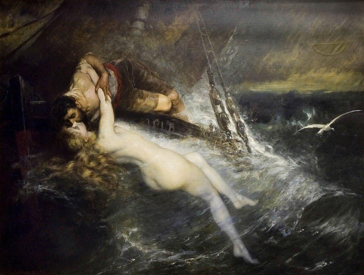 Le Baiser de la sirène, Wertheimer, 1882