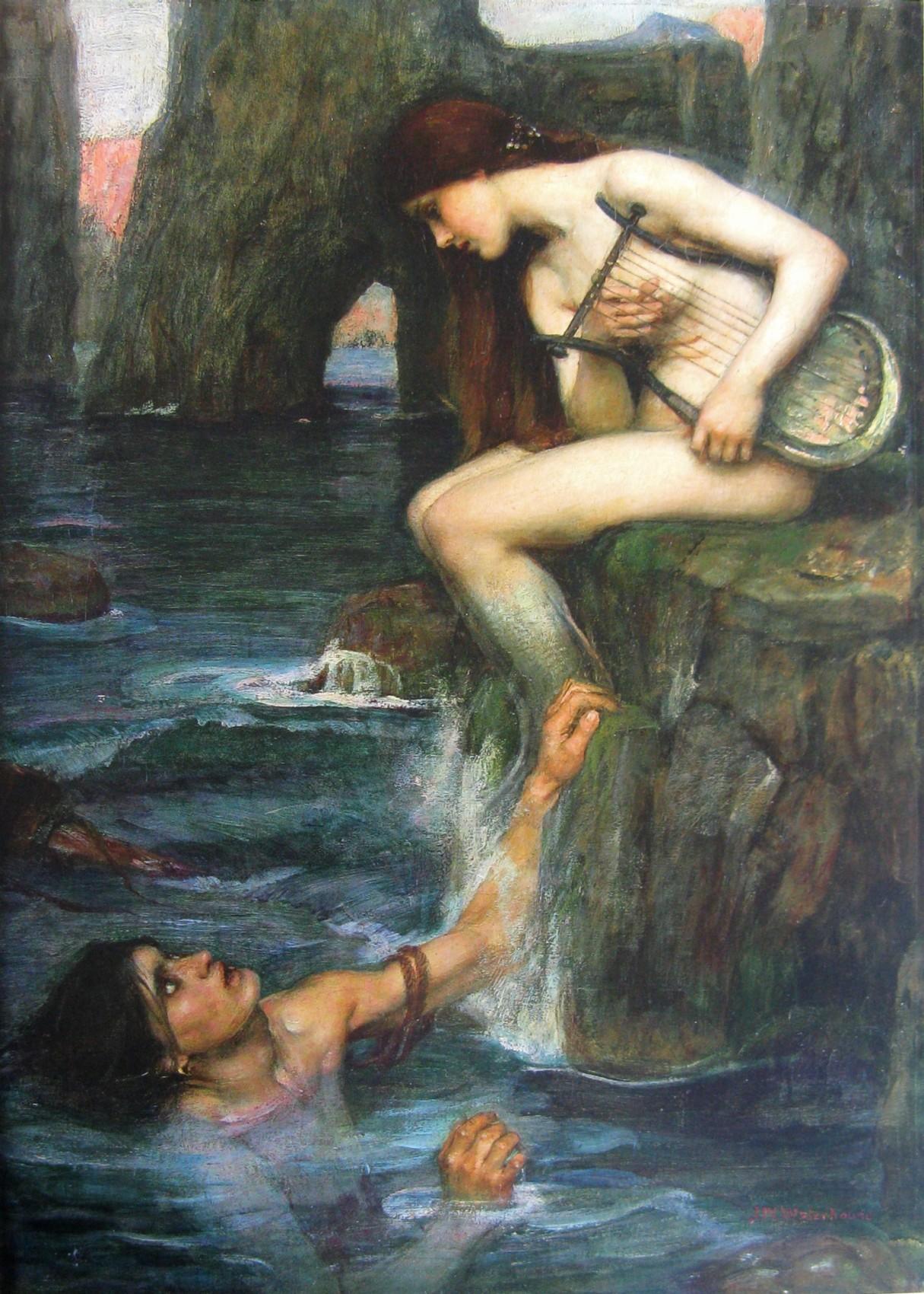 Sirene, Waterhouse, 1900