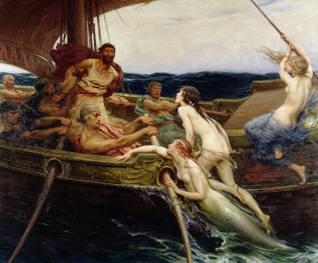Ulysse et les Sirènes, Draper, 1909