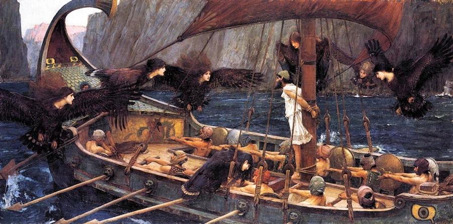Ulysse et les Sirènes, Waterhouse, 1891