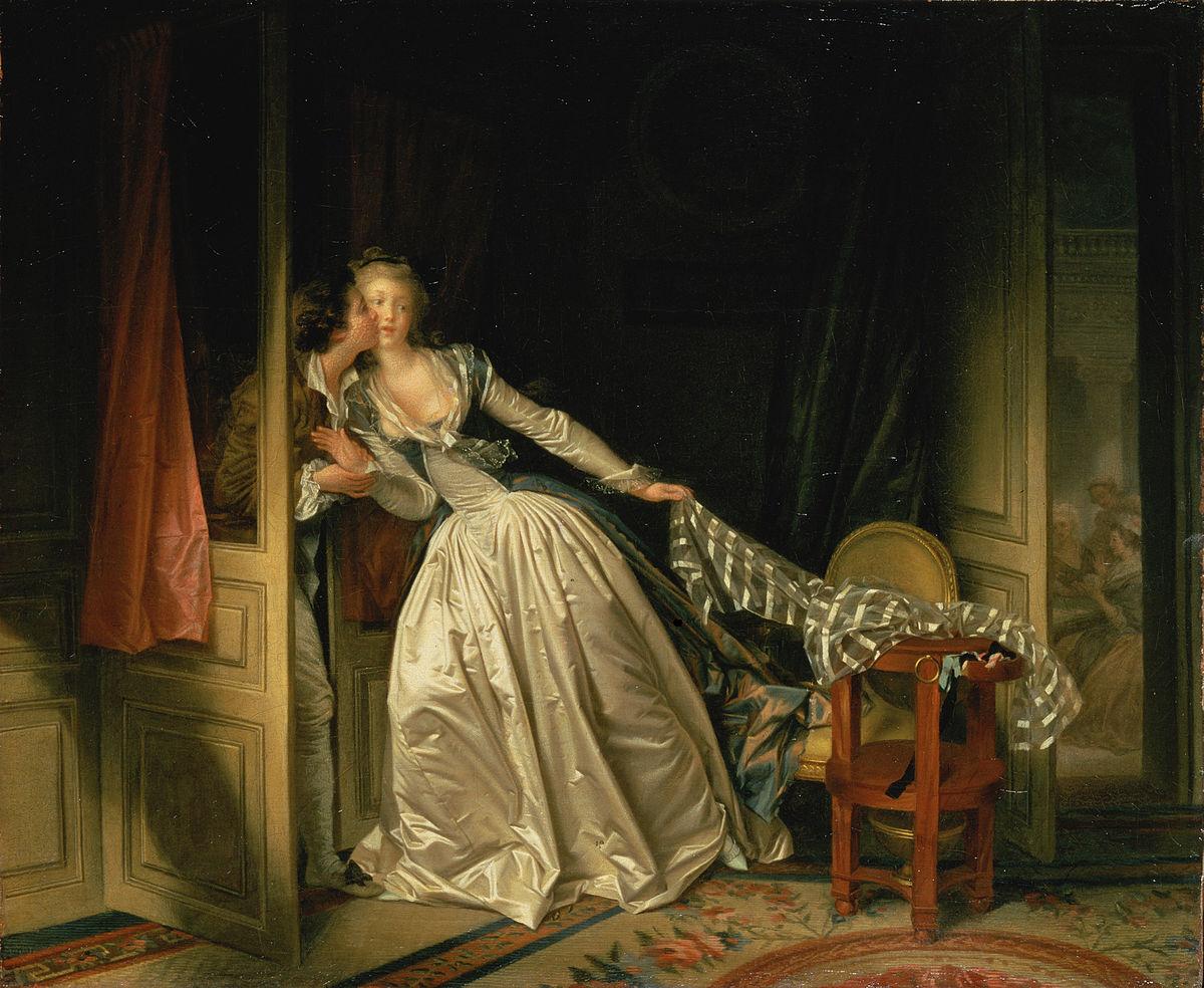 Le baiser à la dérobée, Jean-Honoré Fragonard, 1787