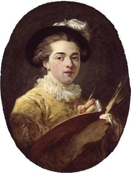 Autoportrait, Jean-Honoré Frangonard, vers 1760-1770