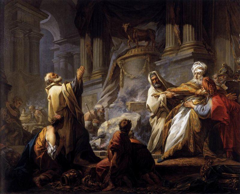 Jéroboam sacrifiant aux idoles, Jean-Honoré Fragonard, 1752