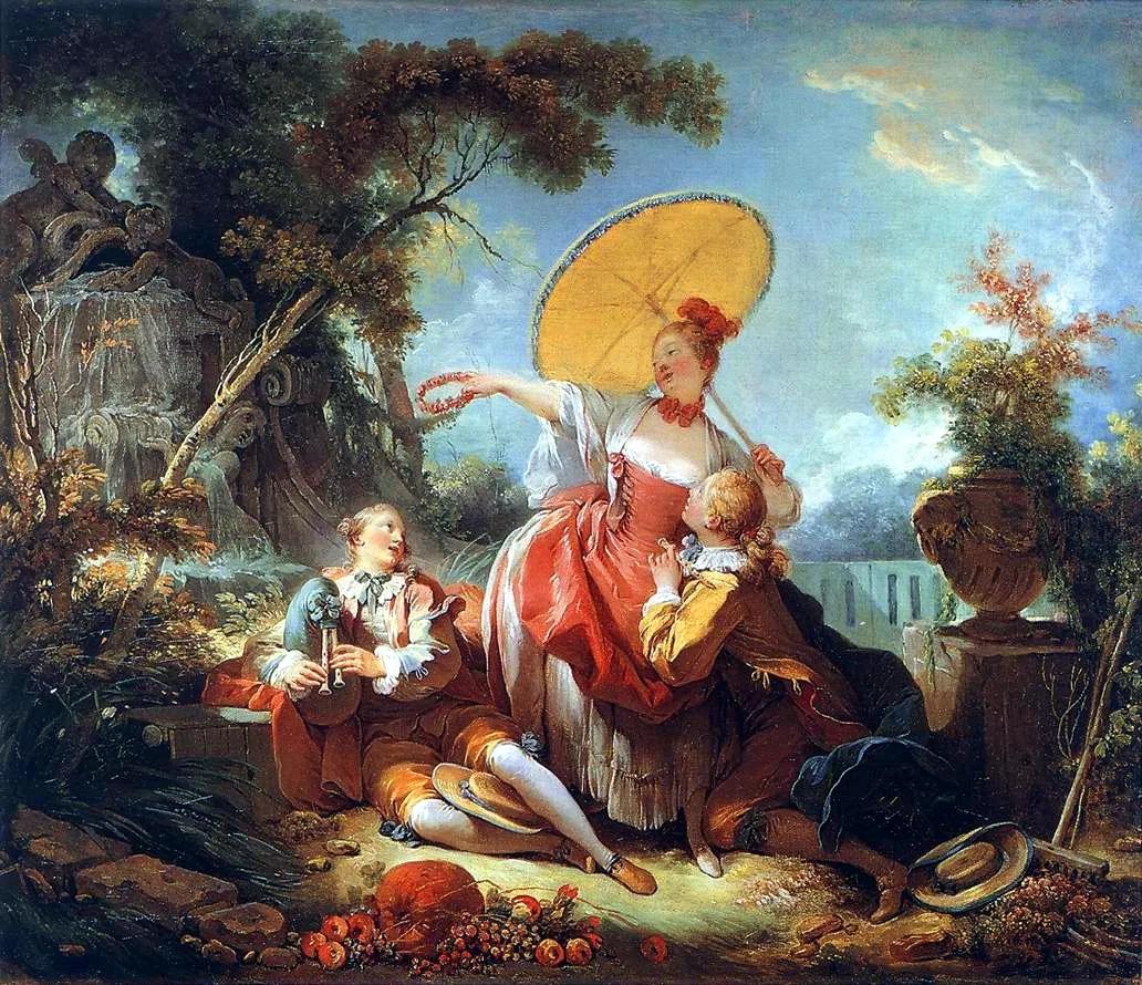 Le concours de musique, Jean-Honoré Fragonard, 1754