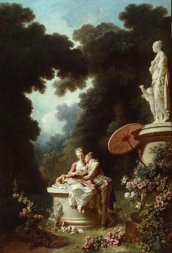 Les progrès de l'amour : la lettre d'amour, Jean Honoré Fragonard, 1771
