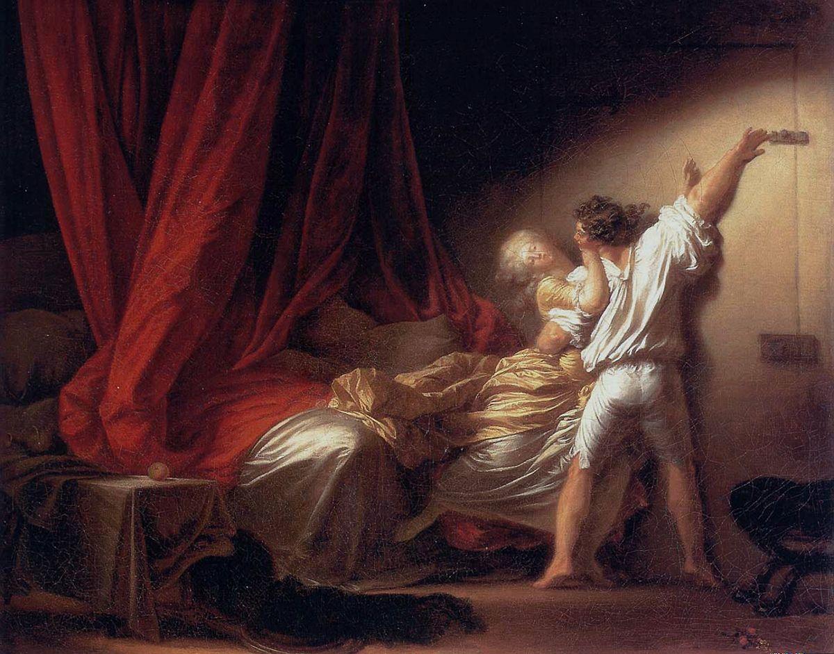 Le Verrou, Jean-Honoré Fragonard, 1777