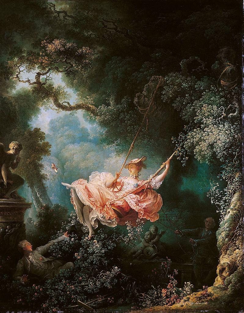 Les hasards heureux de l'escarpolette, Jean-Honoré Fragonard, 1767